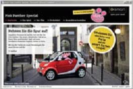 Pink Panther Smart Car